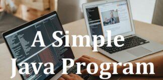 A Simple Java Program