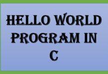 Hello World Program in C