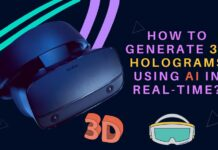 How to Generate 3D Holograms using AI in real-time?
