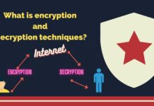 What is encryption and decryption techniques