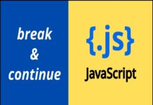 Break and Continue in JS