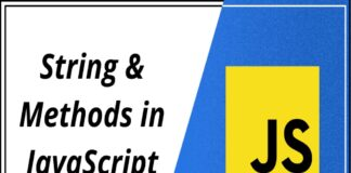 String and methods in javascript