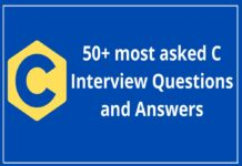 50+ most asked C Interview Questions and Answers
